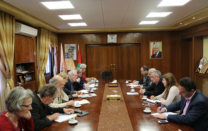 The delegation met the president and deans