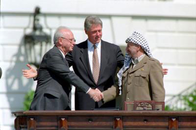 Oslo Accords signed between the Palestinian Authority and the Israel in September 1993.