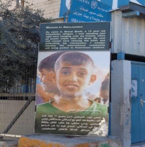 Abdulrahman, mördad palestinsk flykting Aida camp, Bethlehem. (Foto J-E Gustafsson, 2017)